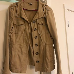 Camel colored trench jacket
